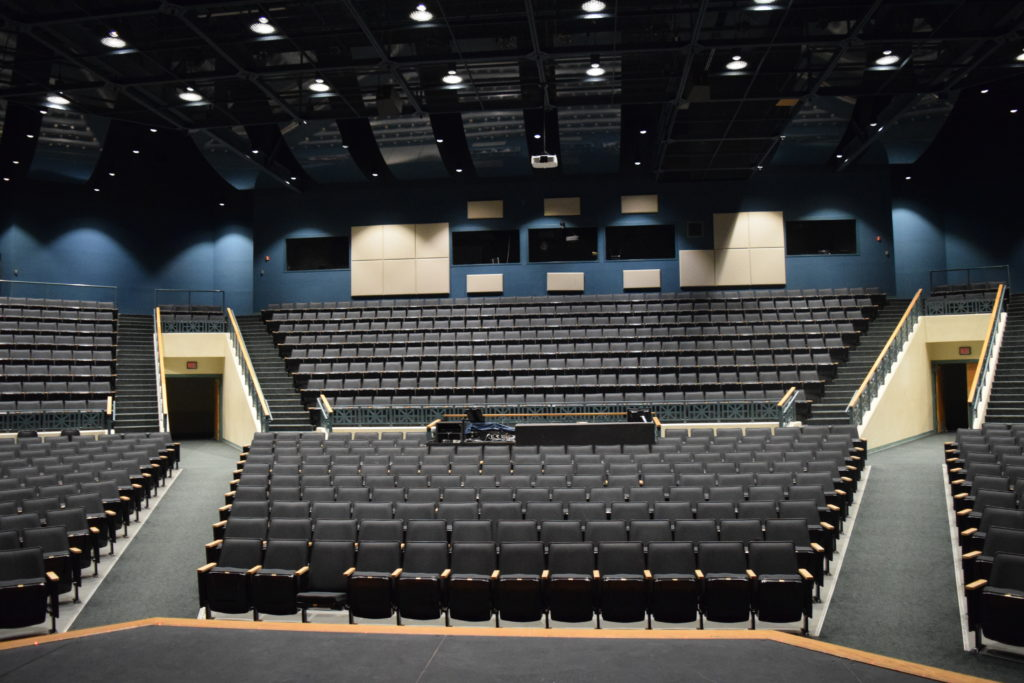 Altman Chalice Downlights Upgrade High School Theater