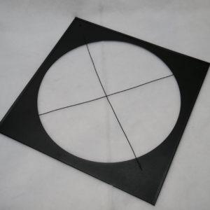 """Color Frame 15-3/4"""" X 16"""" Black"""